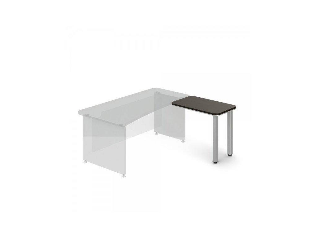 Přístavný stůl TopOffice, pravý, 90 x 55 cm / Wenge
