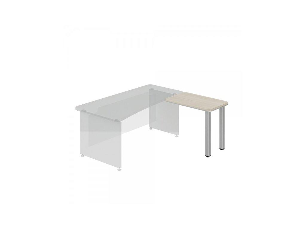 Přístavný stůl TopOffice, pravý, 90 x 55 cm / Světlý akát