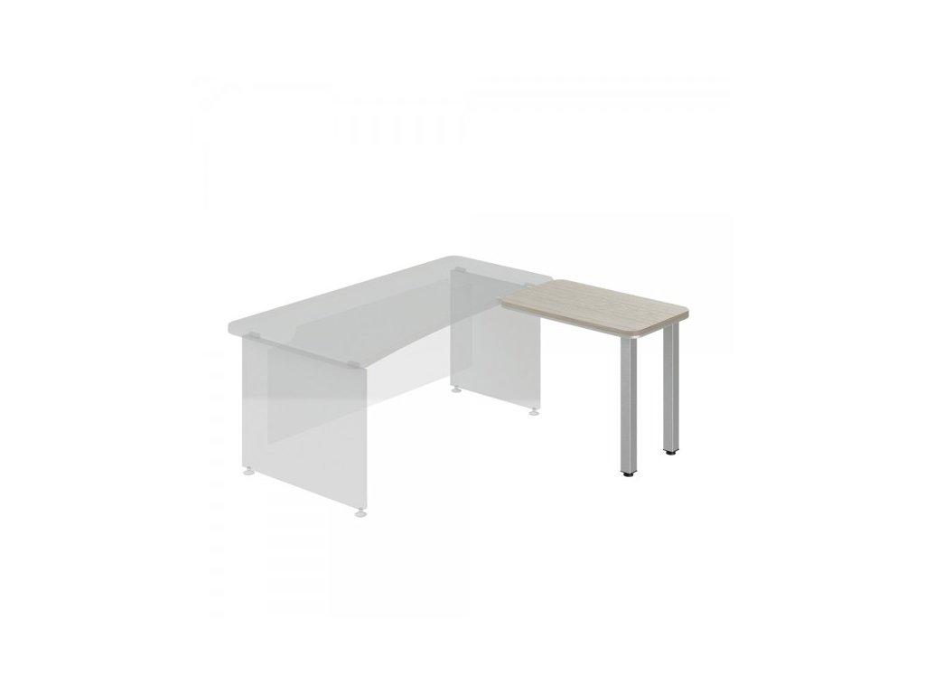 Přístavný stůl TopOffice, pravý, 90 x 55 cm / Driftwood