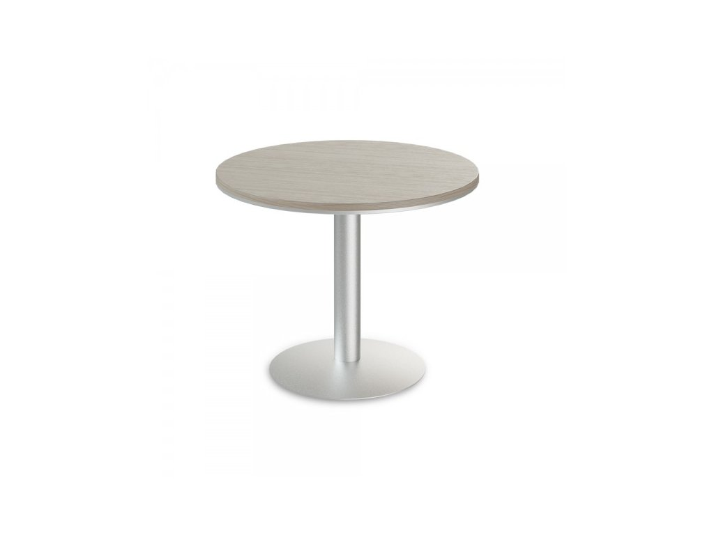 Jednací stůl TopOffice, průměr 100 cm / Driftwood