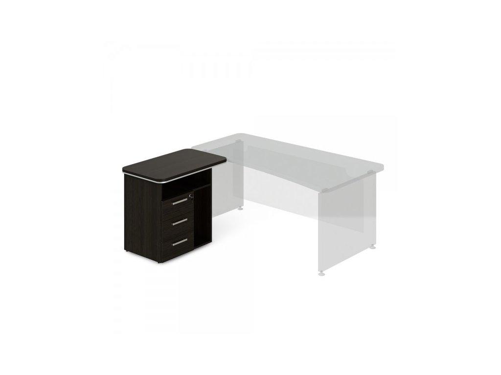 Přístavný kontejner TopOffice, levý, 90 x 55 cm / Wenge