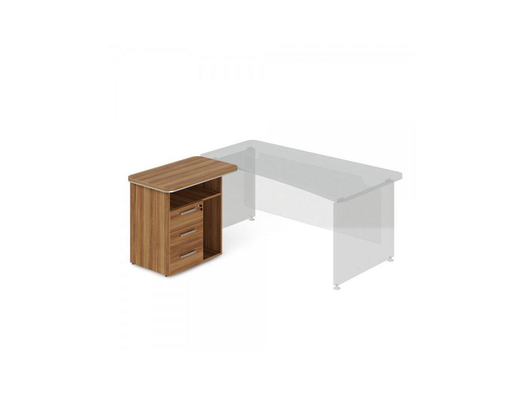 Přístavný kontejner TopOffice, levý, 90 x 55 cm / Merano
