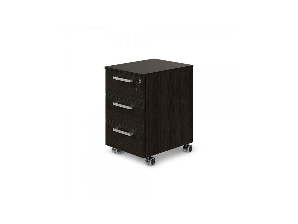 Mobilní kontejner TopOffice 40,8 x 50,4 cm / Wenge