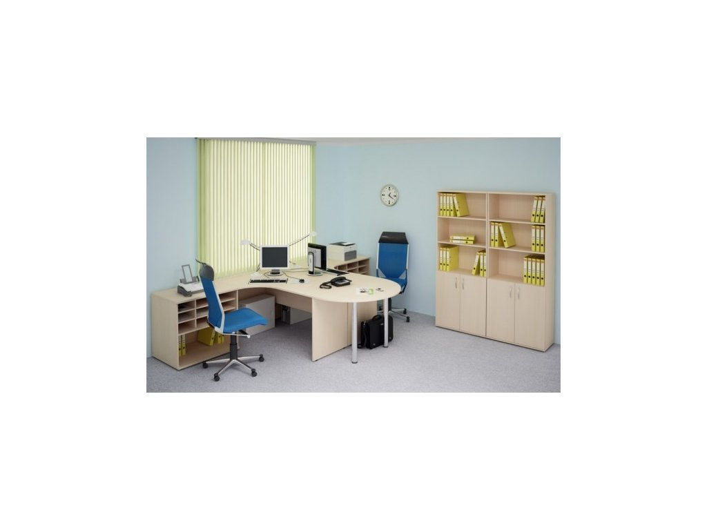 Kancelářský nábytek sestava Impress 4 / Tmavý ořech