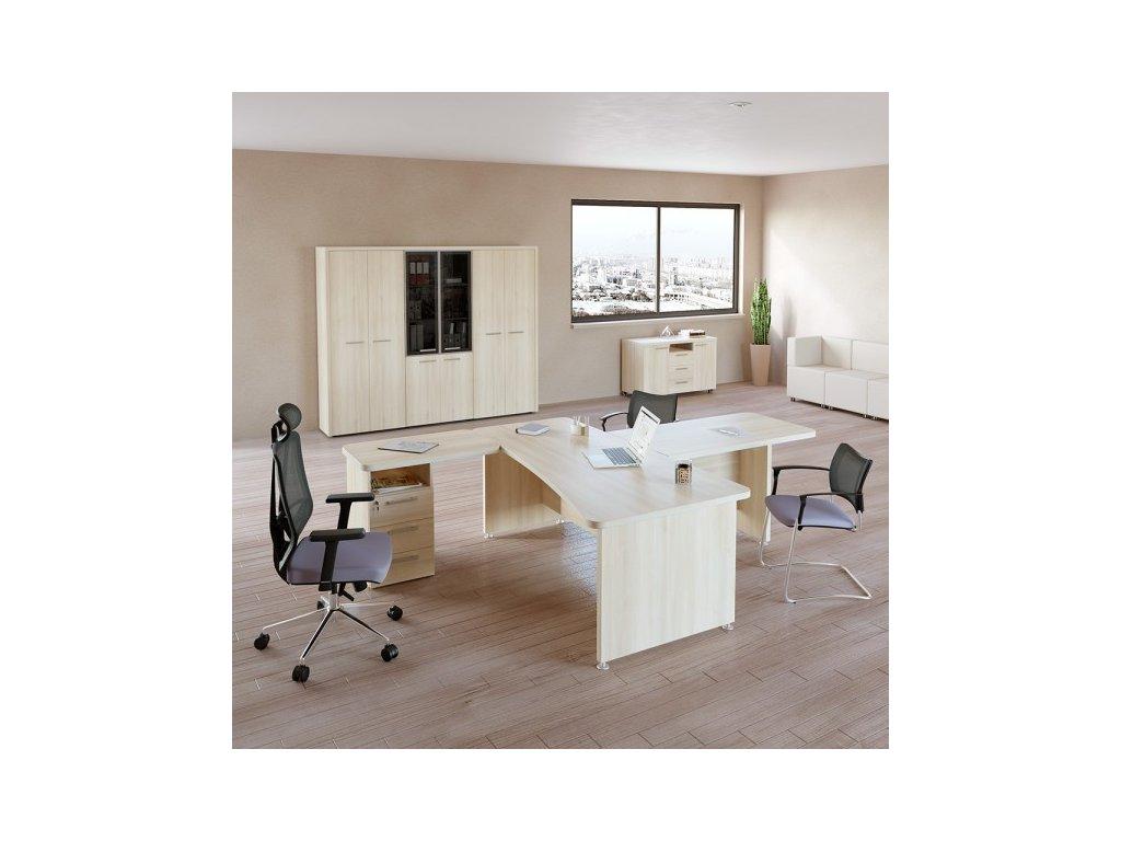 Sestava kancelářského nábytku TopOffice 1 / Světlý akát