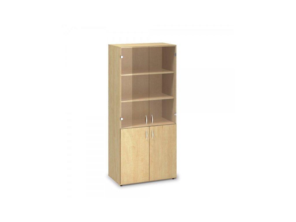 Vysoká skříň ProOffice 80 x 47 x 178 cm / Hruška