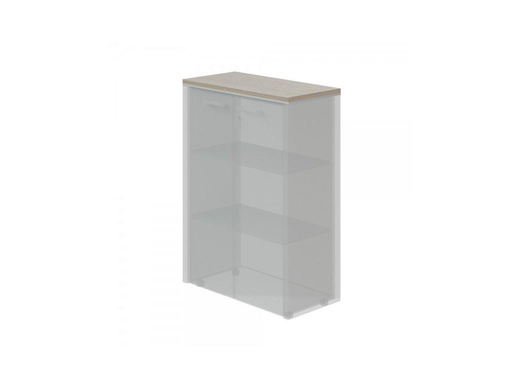 Horní obkladová deska TopOffice pro širokou skříň / Driftwood