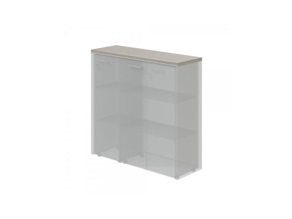 Horní obkladová deska TopOffice pro širokou a úzkou skříň / Driftwood