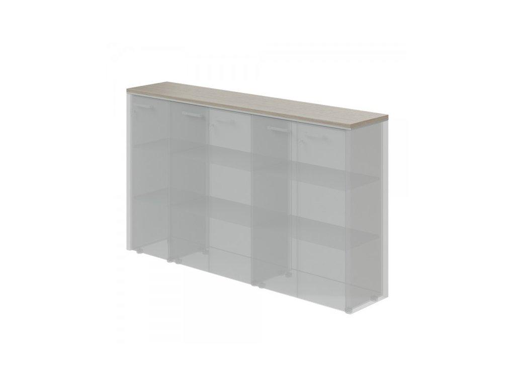 Horní obkladová deska TopOffice pro 2x širokou a úzkou skříň / Driftwood