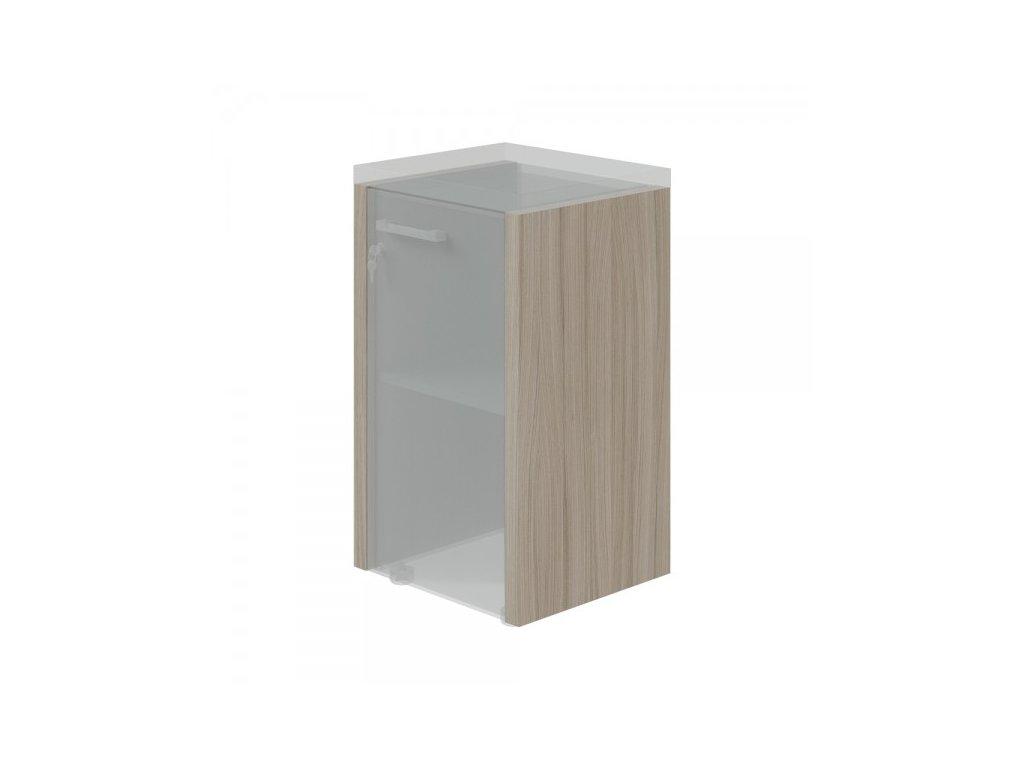 Boční obkladové desky TopOffice 2 ks pro nízkou skříň / Driftwood