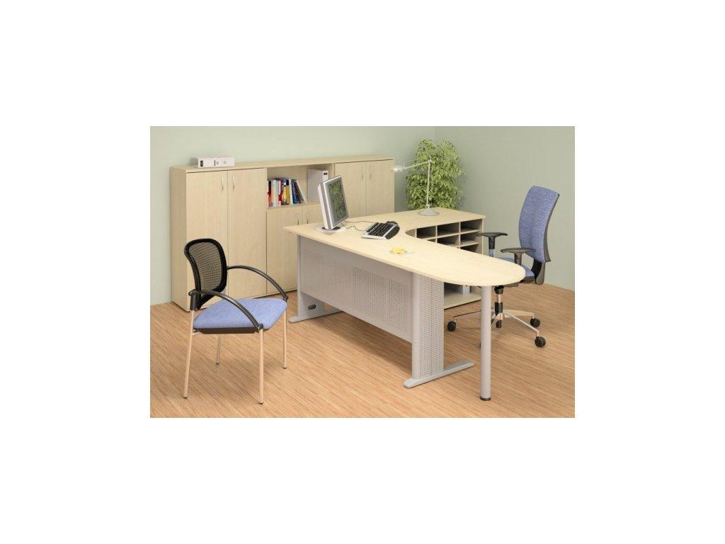 Kancelářský nábytek sestava Impress 5 / Hruška