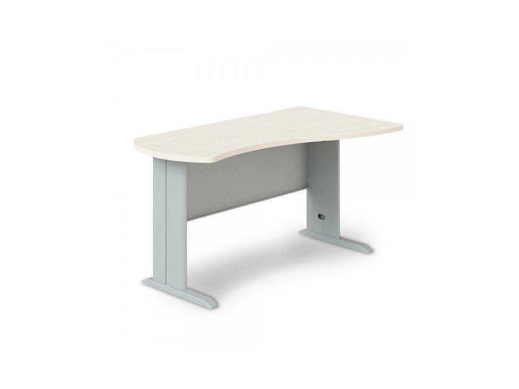 Rohový stůl Manager, pravý 140 x 80 cm / Bříza