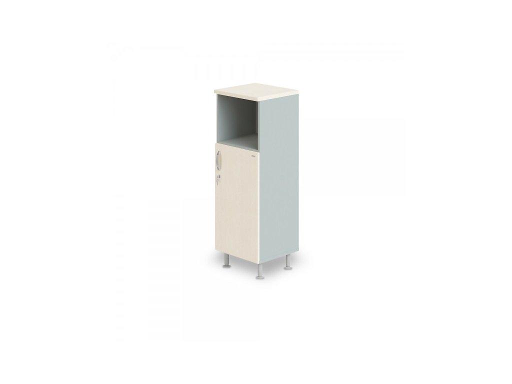 Střední úzká skříň Manager LUX, pravá, 45 x 43 x 129,2 cm / Bříza