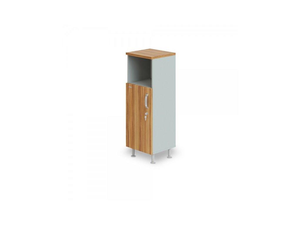 Střední úzká skříň Manager LUX, levá, 45 x 43 x 129,2 cm / Merano