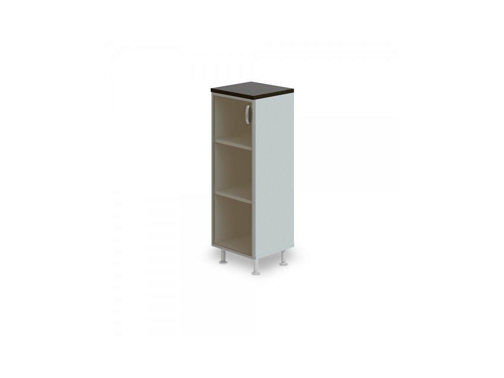 Střední úzká skříň Manager LUX, levá, 45 x 43 x 129,2 cm / Wenge