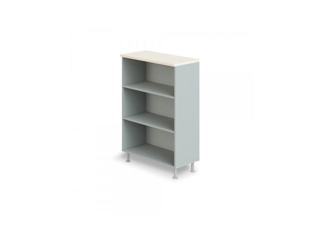Střední široká skříň Manager LUX 90 x 43 x 129,2 cm / Bříza