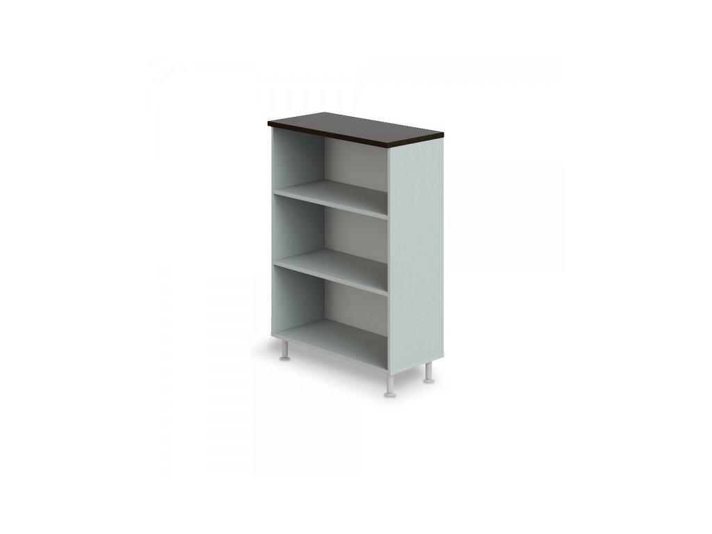 Střední široká skříň Manager LUX 90 x 43 x 129,2 cm / Wenge