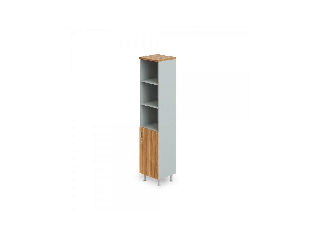 Vysoká úzká skříň Manager LUX, pravá, 45 x 43 x 207,4 cm / Merano