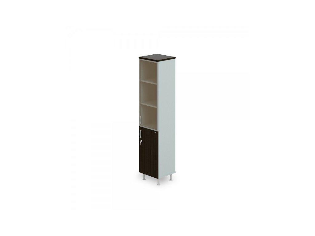 Vysoká úzká skříň Manager LUX, pravá, 45 x 43 x 207,4 cm / Wenge