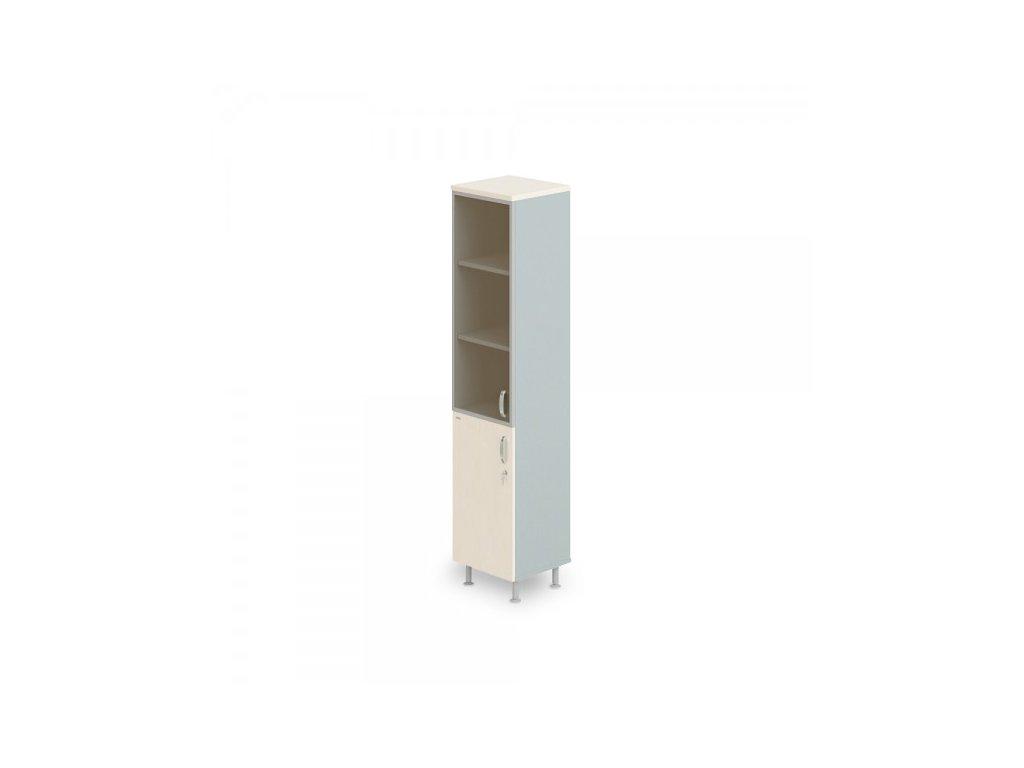 Vysoká úzká skříň Manager LUX, levá, 45 x 43 x 207,4 cm / Bříza