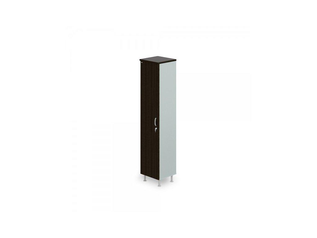 Vysoká úzká skříň Manager LUX, levá, 45 x 43 x 207,4 cm / Wenge