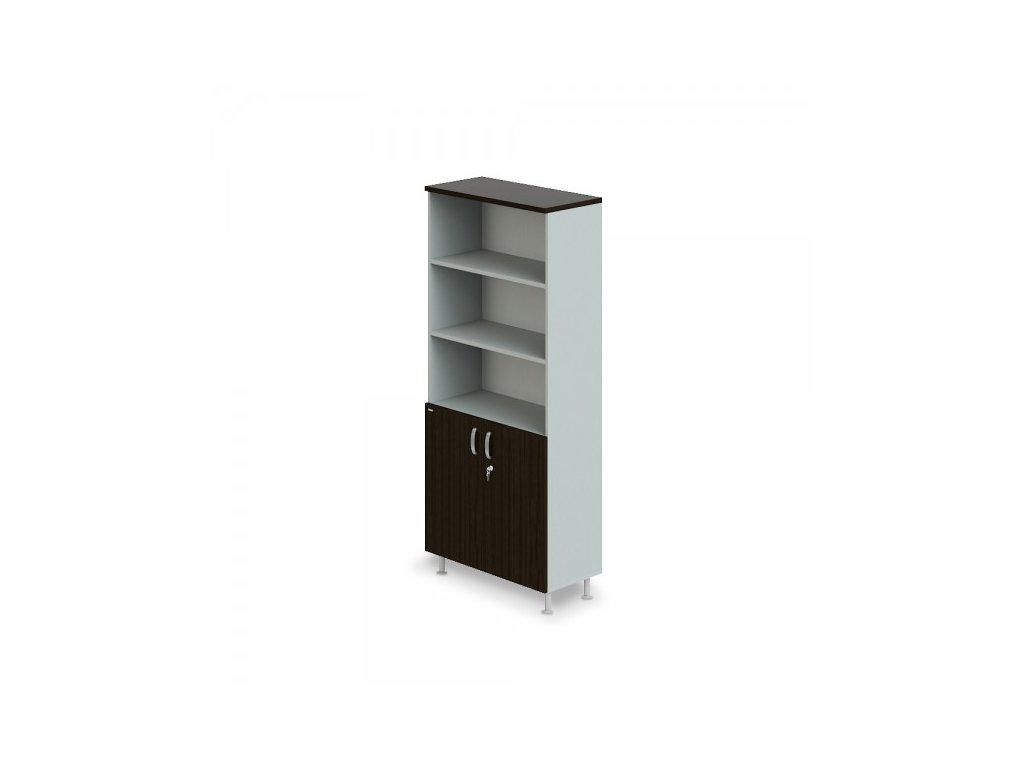 Vysoká široká skříň Manager LUX 90 x 43 x 207,4 cm / Wenge
