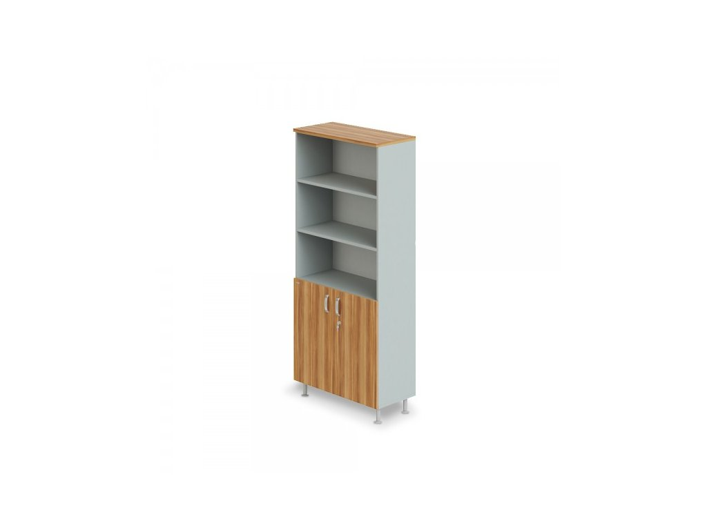Vysoká široká skříň Manager LUX 90 x 43 x 207,4 cm / Merano