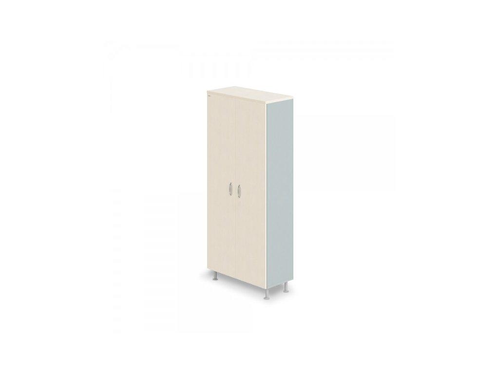 Vysoká šatní skříň Manager LUX 90 x 43 x 207,4 cm / Bříza
