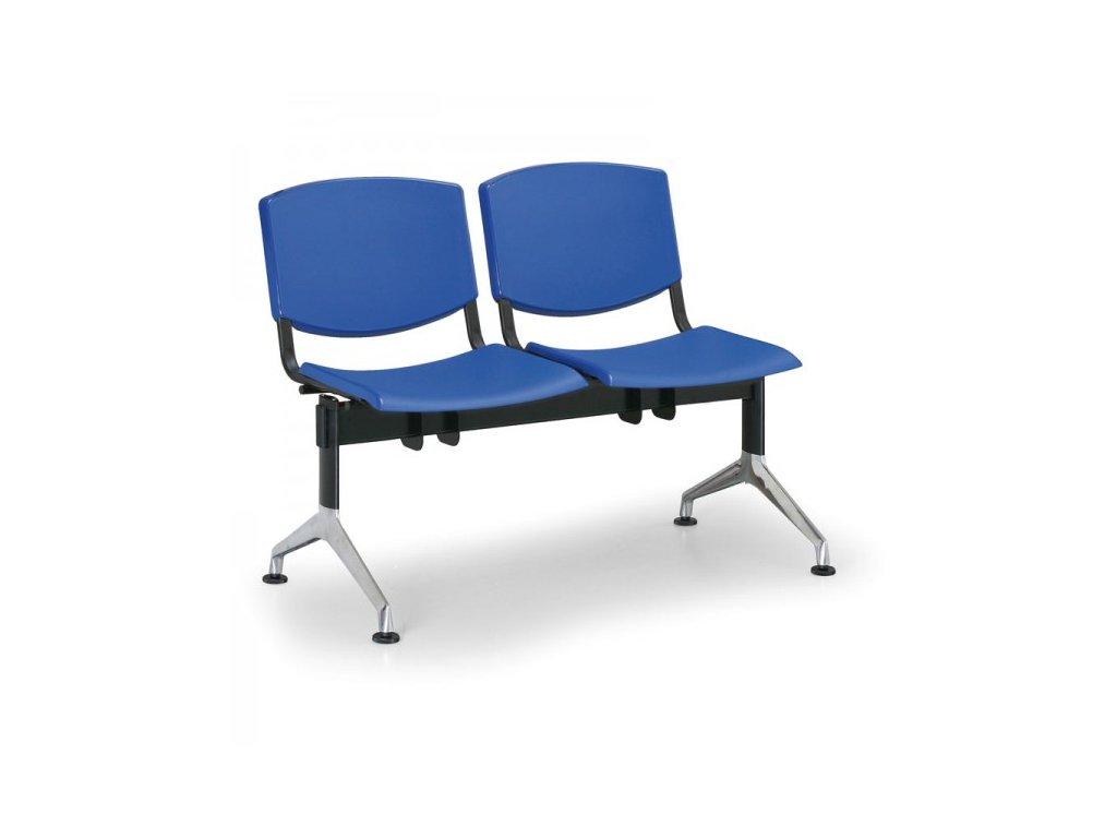 Plastová lavice Design, 2-sedák
