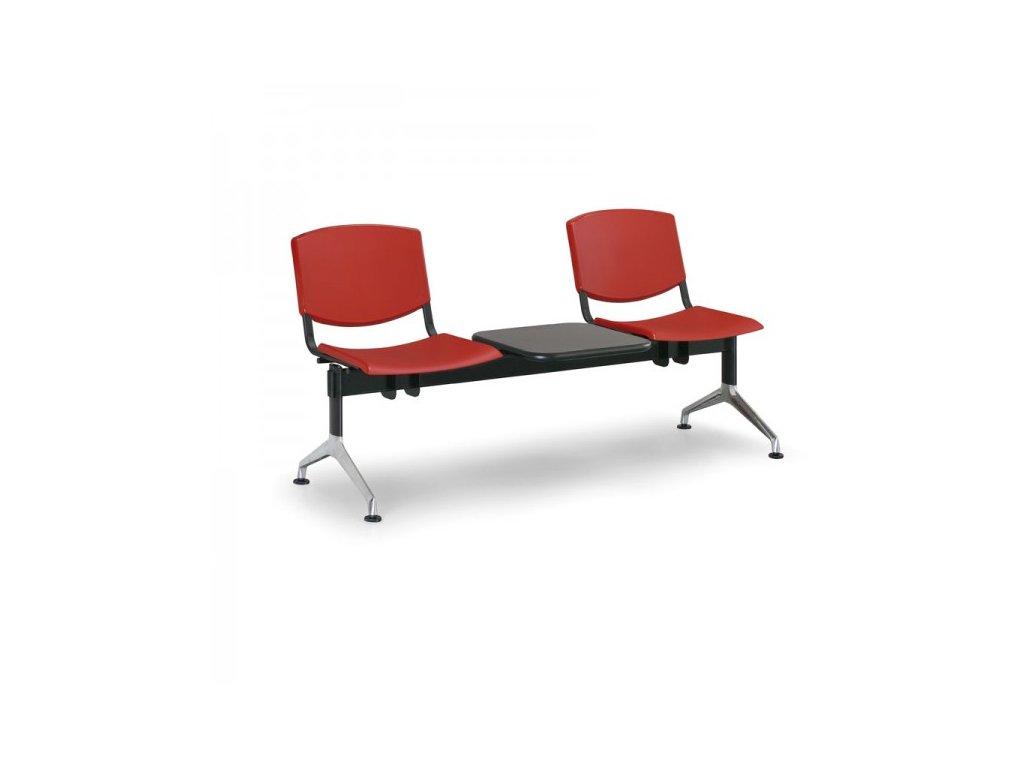 Plastová lavice Design, 2-sedák + stolek