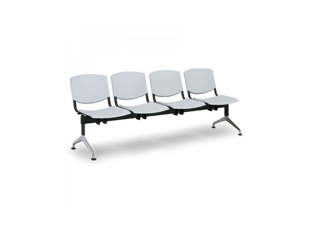 Plastová lavice Design, 4-sedák