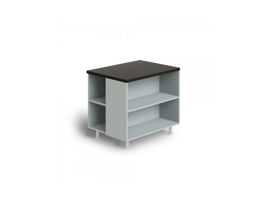 Skříňka pod tiskárnu Manager 80 x 60 x 68,7 cm / Wenge
