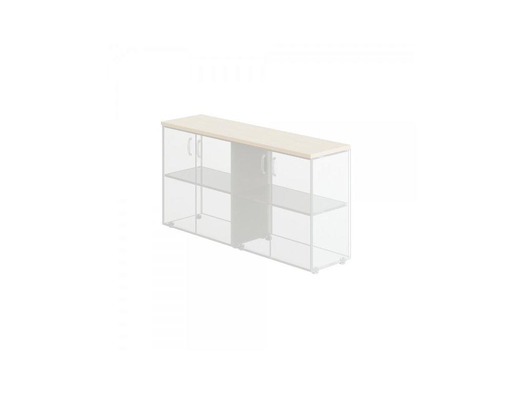 Obkladová deska Manager pro 2x vysokou skříň / Bříza