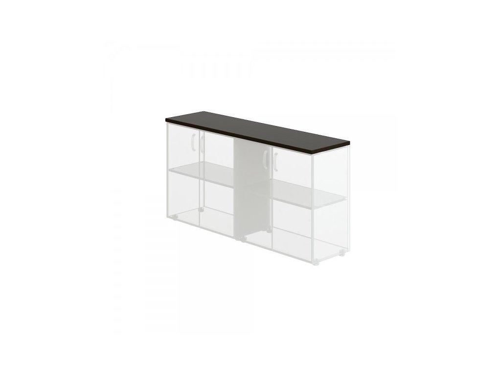 Obkladová deska Manager pro 2x vysokou skříň / Wenge