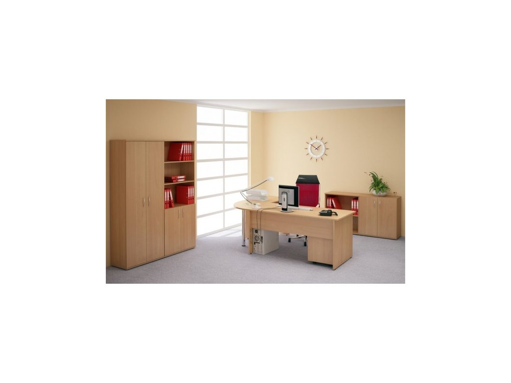 Kancelářský nábytek sestava Impress 1 PLUS / Javor