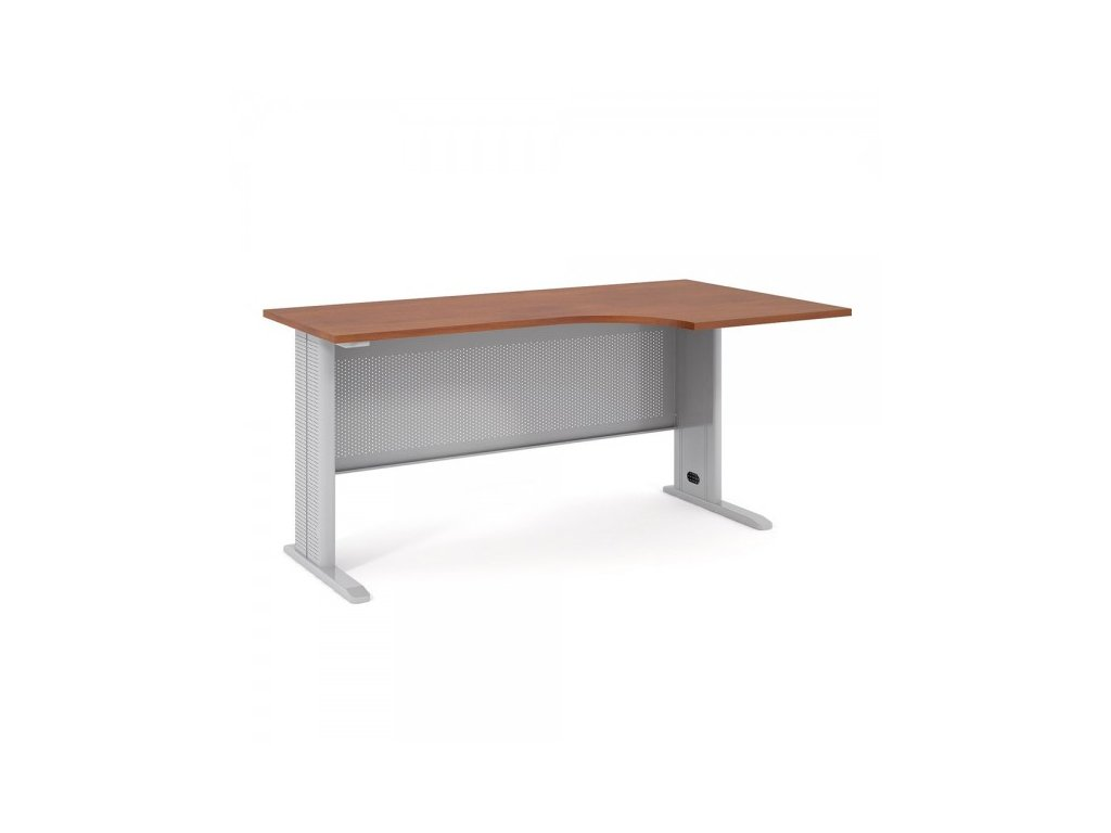 Ergonomický stůl Impress 160 x 90 cm, pravý / Tmavý ořech