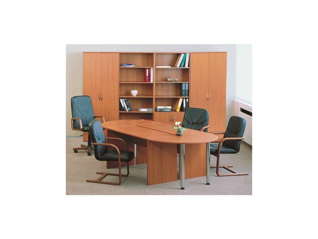 Jednací stůl Impress 280 x 123 cm / Tmavý ořech