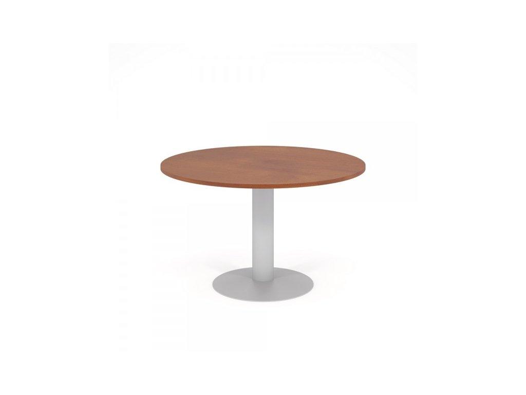 Konferenční stůl Impress d = 120 cm / Tmavý ořech