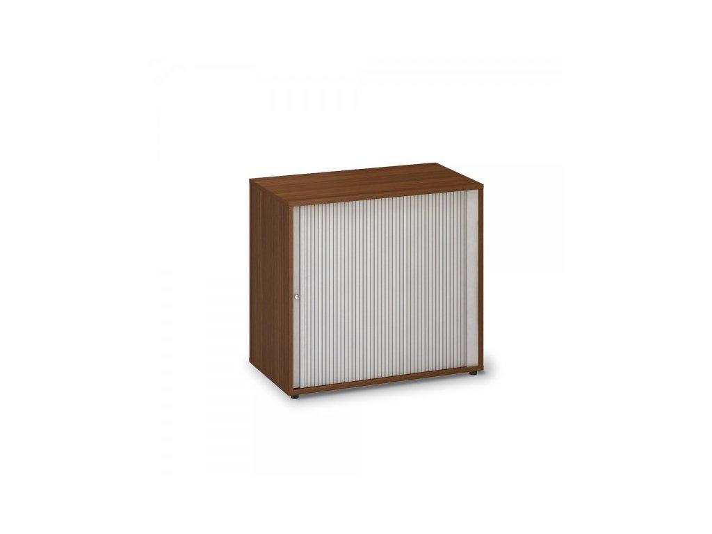 Nízká žaluziová skříň ProOffice 80 x 45 x 73,5 cm / Ořech