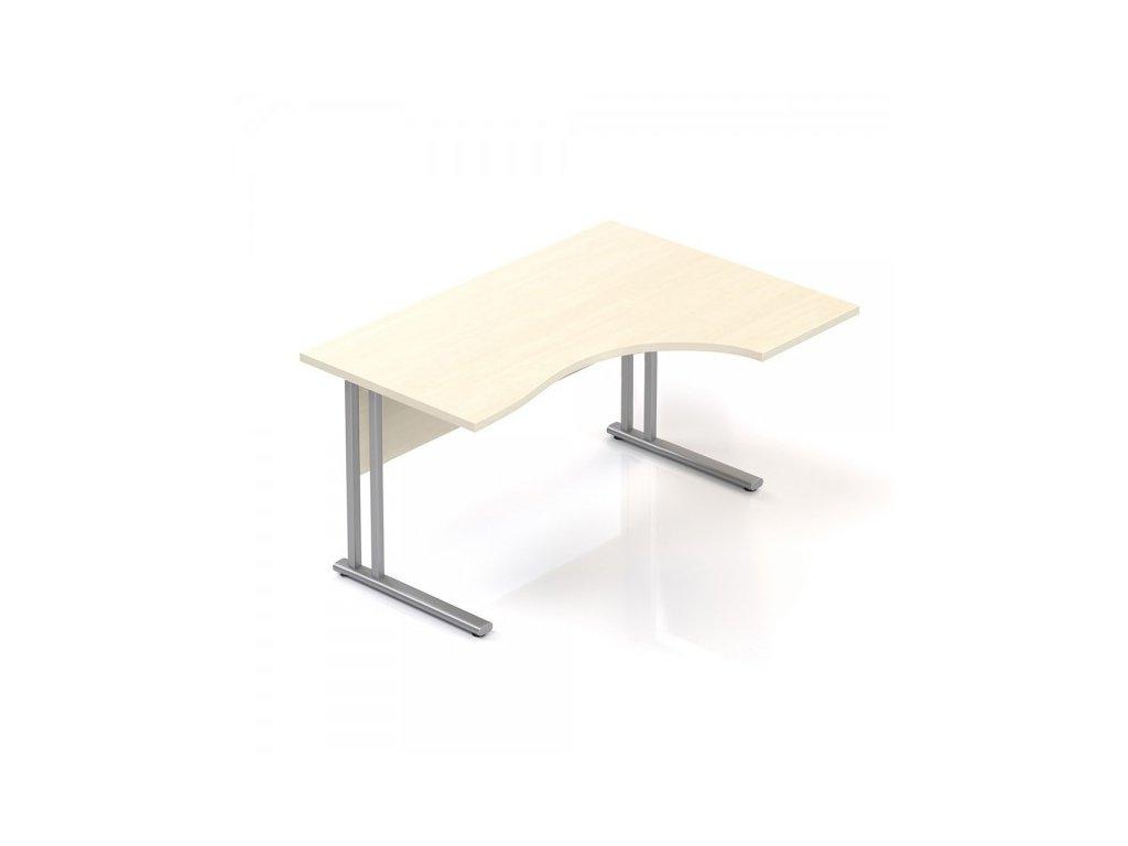 Ergonomický stůl Visio 140 x 100 cm, pravý / Javor