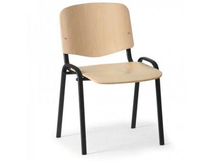 Dřevěná židle ISO - černé nohy / Buk