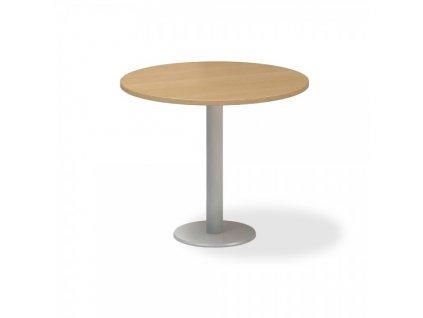 Jednací stůl ProOffice, průměr 90 cm / Buk