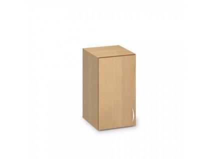 Nástavbová úzká skříň ProOffice 40 x 47 x 71,7 cm, levá / Buk