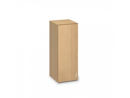 Nástavbová úzká skříň ProOffice 40 x 47 x 104,5 cm, levá / Buk
