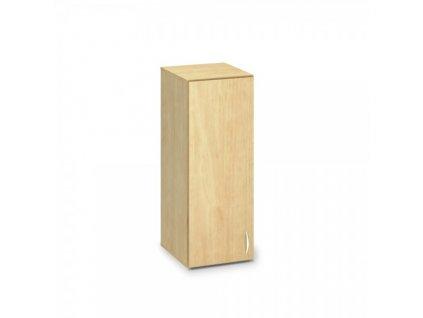 Nástavbová úzká skříň ProOffice 40 x 47 x 104,5 cm, levá / Hruška