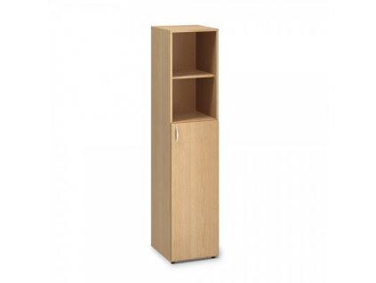 Vysoká úzká skříň ProOffice 40 x 47 x 178 cm, pravá / Buk
