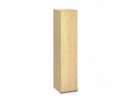 Vysoká úzká skříň ProOffice 40 x 47 x 178 cm, levá / Hruška