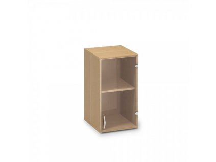 Nástavbová úzká skříň ProOffice 40 x 45,8 x 71,7 cm, pravá / Buk