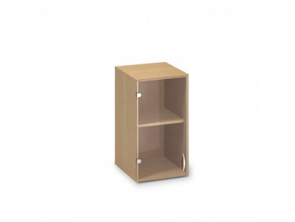Nástavbová úzká skříň ProOffice 40 x 45,8 x 71,7 cm, levá / Buk