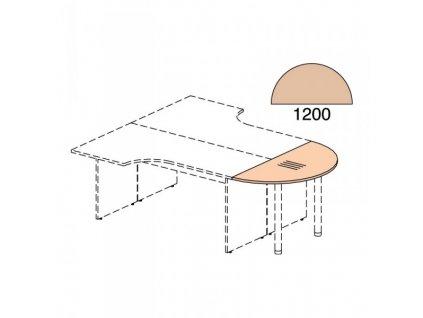 Zakončovací prvek Impress 120 x 60 cm / Tmavý ořech